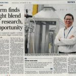 Firm finds right blend of research, opportunity Plastics equipment supplier working on new patent, bigger customer base.