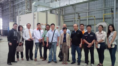 Group photos taken at hotel & C5 factory visit